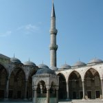 054 - Istanbul - Mosquee bleue cour - Turquie